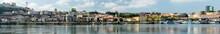 View Of The Skyline Of Maginal De Gaia Along The Douro River.