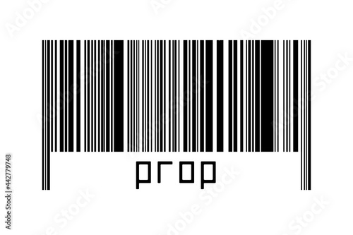 Canvas Print Barcode on white background with inscription prop below