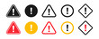 Caution signs. Symbols danger and warning signs.