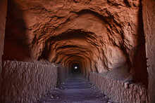 A Tunnel Through The Mountain In San Pedro De Atacama, Chile, South America