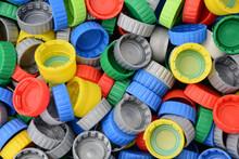 Tapiz De Tapas Plásticas De Colores