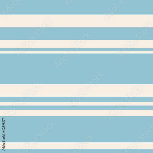 Fotografie, Obraz Seamless marine pattern, flat blue stripes on a beige light background