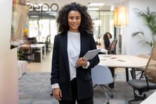 Black Business Woman Portrait Standing