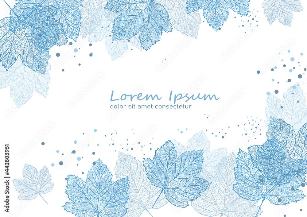 Obraz liście klonu-  tło, wzór, szablon- ilustracja wekrorowa fototapeta, plakat