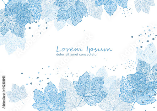 liście klonu-  tło, wzór, szablon- ilustracja wekrorowa