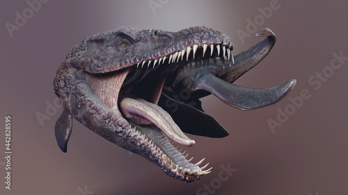 Canvas Predator X -  Pliosaurus Funkei Concept Project,  of background, 3d render