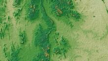 Green Digital Elevation Model In North East Of Thailand