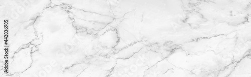 Fotografering Marble granite white panorama background wall surface black pattern graphic abstract light elegant gray for do floor ceramic counter texture stone slab smooth tile silver natural