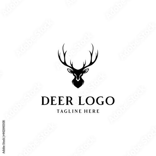Fotografiet Deer Logo, Deer Hunter logotype, Design, template, and vector