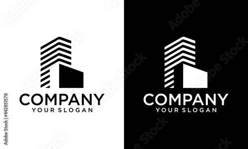 Fotografija real estate , building architecture premium logo design