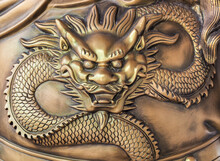 Antique Brass Dragon Abstract Details