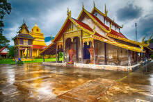 The Tripitaka Buddha Temple And The Chapel Within Wat Si Pho Chai At Na Haeo District