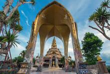 Gateway Into Phra That Pha Son Kaew Temple At Khao Kho Phetchabun Thailand.