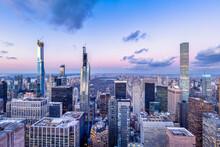 Billionaires' Row And Central Park In Manhattan, New York City, USA