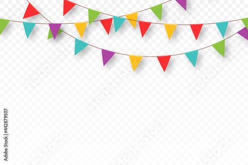 Fototapeta Carnival garland with pennants