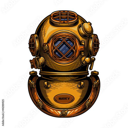 Vászonkép Vintage diving helmet