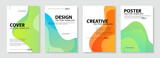 Set of colorful cover design template. Modern gradient shapes background for poster, banners, flyer, brochure and page layout other.