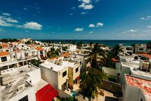 Cancun, Mexico - Dec, 2020: Residential Area Playa Blanca