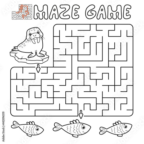 Photo Maze puzzle game for children