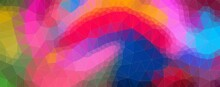 Abstract Colorful Background With Strokes