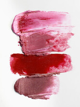 Lipstick Texture Background Abstract Smears Red Pink Purple