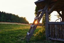 Rural Sunset, Countryside Scenery, Rural Arbor Sunset,