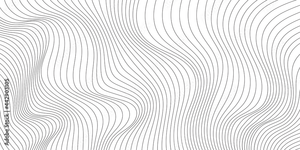 Obraz Wavy shapes, shades of gray. Light vector background, banner. fototapeta, plakat