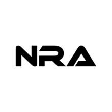 NRA Letter Logo Design With White Background In Illustrator, Vector Logo Modern Alphabet Font Overlap Style. Calligraphy Designs For Logo, Poster, Invitation, Etc.