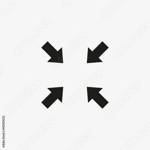 Carta da parati Minimize display screen vector icon. Compress symbol.