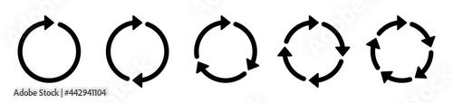 Fotografie, Obraz Circle arrows icon set