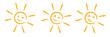 Ilustracja słońce, ikona