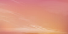 Sunrise In Morning With Orange,Yellow,Pink Sky,Dramatic Twilight Landscape With Sunset In Evening,Vector Horizon Dusk Sky Banner Of Sunset Or Sunlight For Four Seasons Background