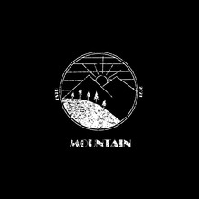 Vintage Logo Of Mountain With Retro Style Estd021. Can Be Used For Stamp Or Emblem Anda Mascot. Another Using To T-shirt Design.