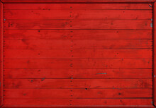 Red Painted Wooden Planks Background
