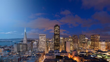 San Francisco Skyline Twilight Transition