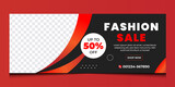 Fashion sale business social media business cover design template   discount fashion sale cover design.