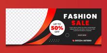 Fashion Sale Business Social Media Business Cover Design Template | Discount Fashion Sale Cover Design.