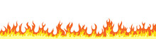 Fire Flames. Fire And Flames Sign. Flame Elements. Vector Illustration