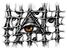 All-seeing Eye. Human Eye In A Triangle. Masonic Symbol
