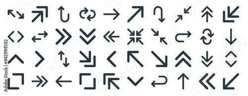 Fotografia linear pack of arrows line icons