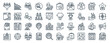 linear pack of employment line icons. linear vector icons set such as chart, unemployment, piggy bank, box, listing, resume. vector illustration.
