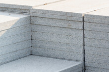 Marble Tiles Laid In Series. Building.