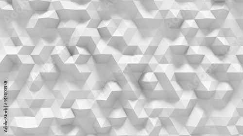 Abstract low poly surface background. Polygonal plane