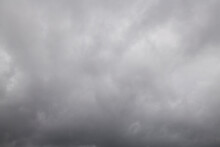 Gray Sky Covered By Cloudy In Graying Day
