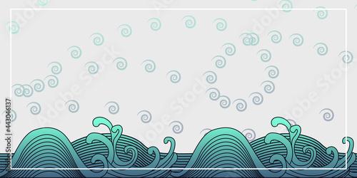 Canvas Big wave vector illustration
