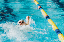 Paralympic Swimmer In Pool