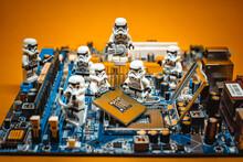 Team Of Stormtroopers Repairing PC. Illustrative Editorial. June 28, 2021