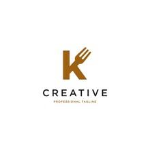 Kitchen Vector Icon. Letter K Vector Illustration Logo Design.