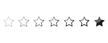 Stars Rating Reviev. Vector Illustration.