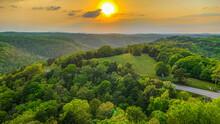 Sunset Over The Ozark Mountains In Arkansas